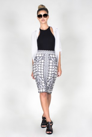 ZIP MIDI PENCIL SKIRT - CUADCIG
