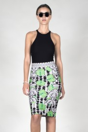 ZIP MIDI PENCIL SKIRT - BANABSTRKT