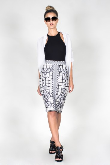 Midi pencil skirt - Cuadcig