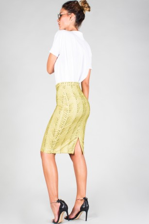 "ZIP MIDI PENCIL SKIRT ""TAJINASTE 300"""