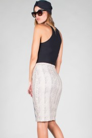 "ZIP MIDI PENCIL SKIRT ""DRAGOTAJI"""