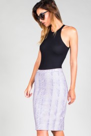 "ZIP MIDI PENCIL SKIRT ""TAJINASTE 203"""