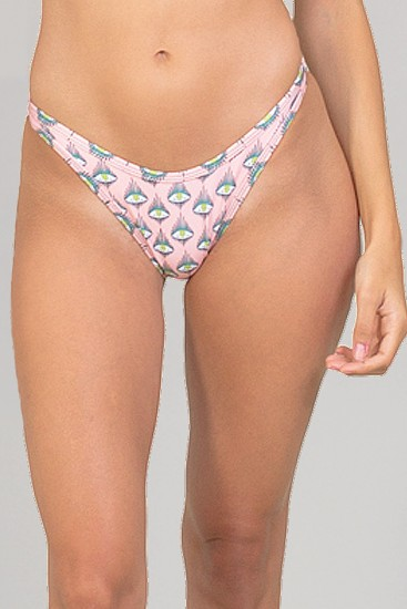 NENA VON FLOW BY ELEYTE bikini bottom with eyes print