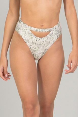 BIKINI BOTTOM HIGH WAIST HALFMOON - SANDY