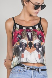 CROP TOP- LOS NEGROS