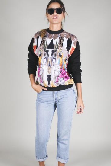 Sweatshirt Floral Unisex