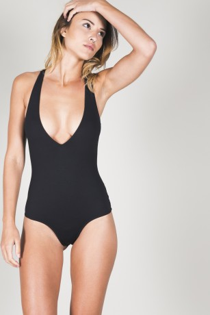 BODYSUIT V-NECK THONG - 800